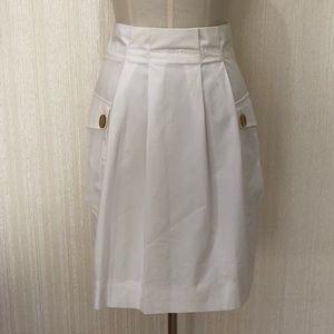 Valentino white cotton knee length skirt size 4
